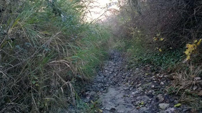 Sentiero in discesa verso la gola di Tramosasso